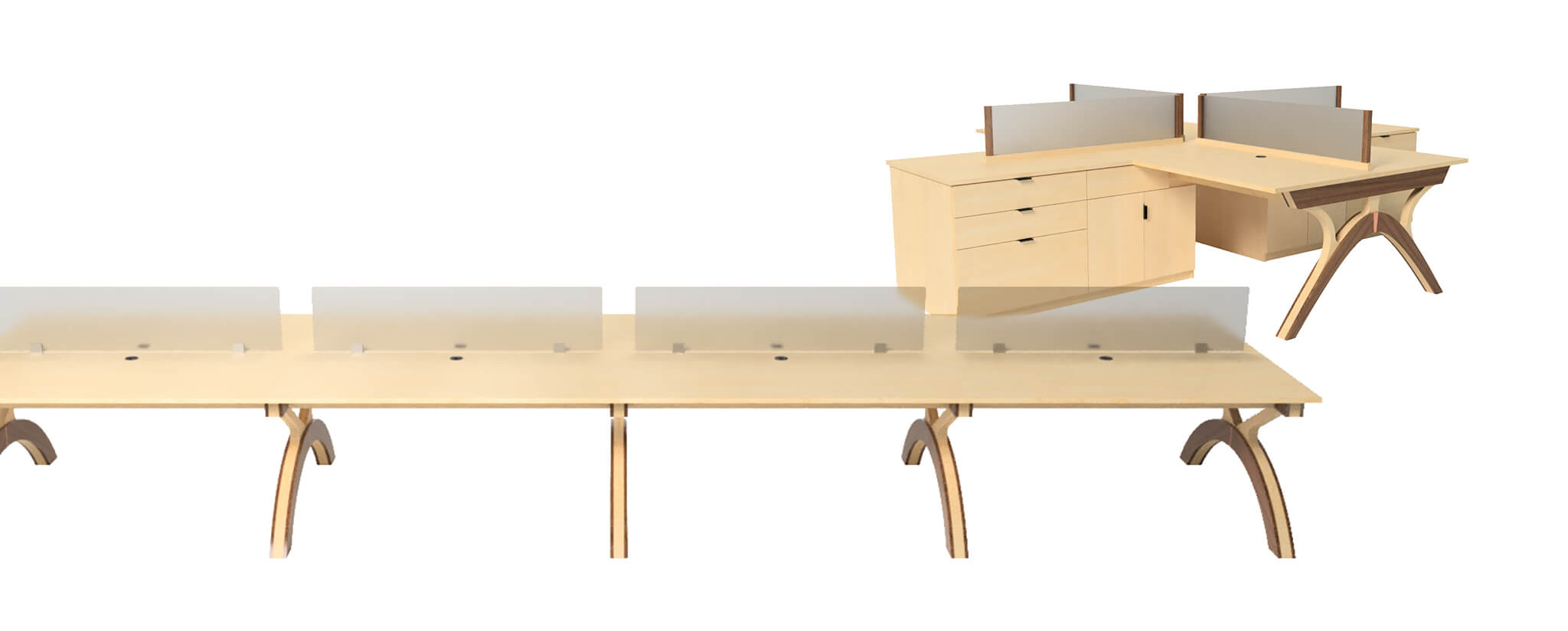Wood Cubicles has the perfect benching solutions for your organization.