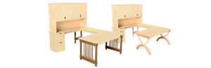U-Desks and L-Desks. Artisan-quality desks from Wood Cubicles.