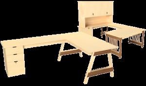Our U Desks and L Desks meet a wide variety of real wood desking solutions.
